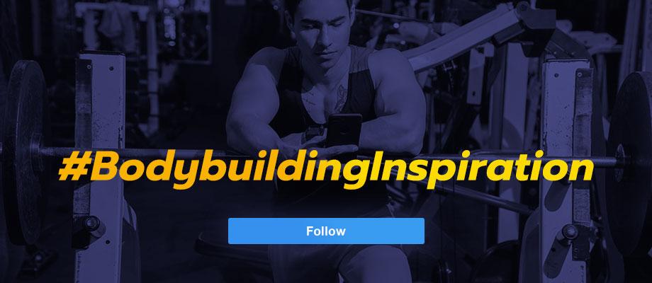 #BodybuildingInspiration Follow Button for Instagram