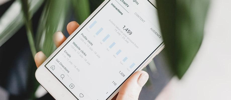 Instagram analytics screen